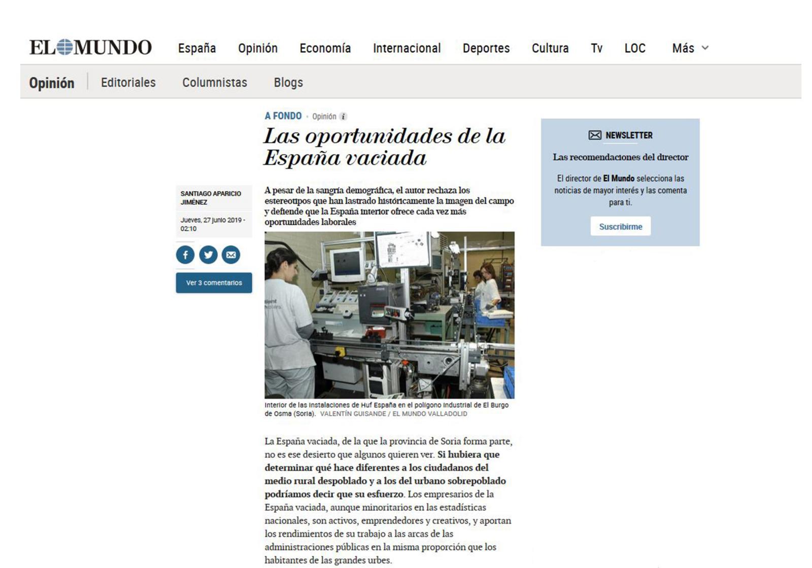 Las oportunidades de la España vaciada.